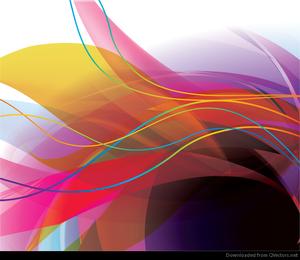 Abstrakte bunte Welle zeichnet Hintergrund-Vektor