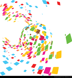 Free Vector Abstract Mosaic Design Illustration