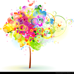 Abstract Tree Vector Illustration