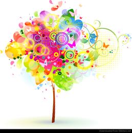 Ilustración abstracta del vector del árbol