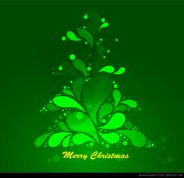 Gráfico de vetor abstrato verde árvore de Natal