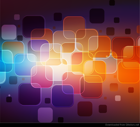 Abstract Rounded Rectangles Vector Graphic