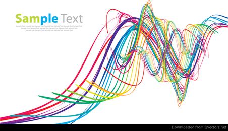 Arte abstrata de vetor de onda de arco-íris
