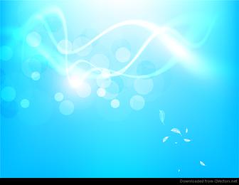 Fondo azul abstracto del vector del resplandor