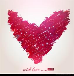 vector patrón abstracto en forma de corazón