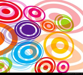 Zusammenfassung farbige Kreis-Vektor-Grafik