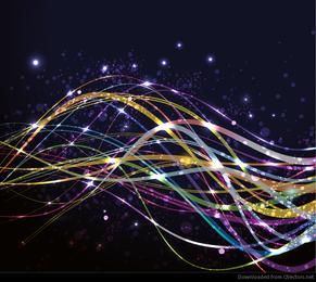 Resumen de fondo con el gráfico vectorial de onda colorida