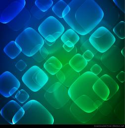 Fondo virtual de tecnología virtual azul verde