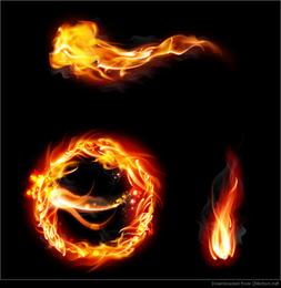 flamas do incêndio