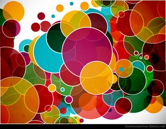 Círculos coloridos abstractos fondo vector