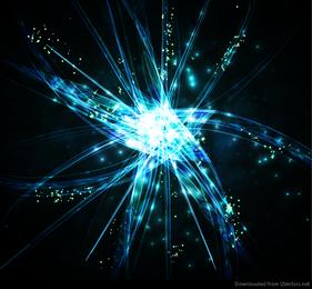 Resumo de iluminação azul escuro gráfico de vetor