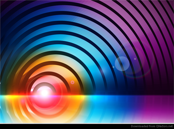 Gráfico de vector colorido abstracto gratis