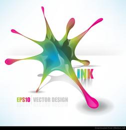 vorzüglicher dekorativer abstrakter Vektor der Vektor 01