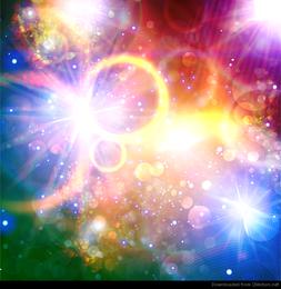 Arte abstracto colorido luces vectoriales