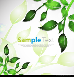 Abstract Background With Glossy Leafs