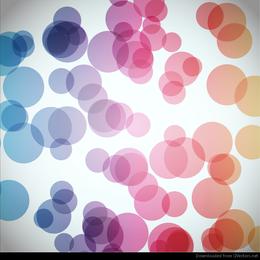 Gráfico de vetor abstrato de fundo circular