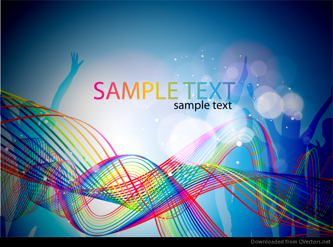 Abstract Colorful Music Background Vector Illustration Vector Download