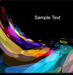 Abstract Color Background Vector Graphic