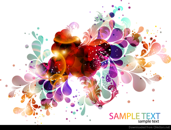 Colorful and Abstract Design Background