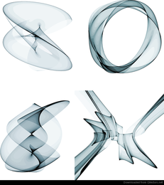 4 Abstrakte Rauch-Design-Vektorgrafiken