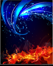 Fire and water background