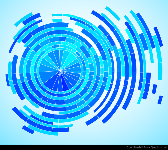 Abstract Tech Blue Background Vector Graphic Vector Download