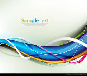 Abstract Colorful Waves Vector Background Graphic