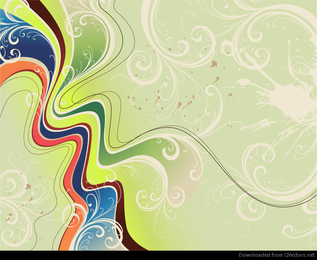 Dynamic Floral Abstract Background Vector