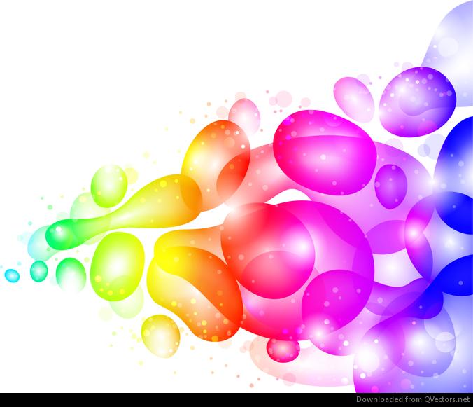 Resumen de color transparente con burbujas y fondo del ...