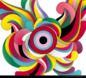 Colorful Abstract Background Vector Garphic Art