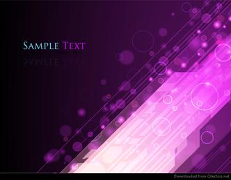 Auszug beleuchtet purpurrote Hintergrund-Vektor-Grafik