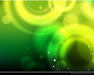 Abstrakter grüner Bokeh-Hintergrund-Vektor