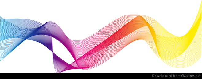 Abstract Colorful Curve Vector Illustration