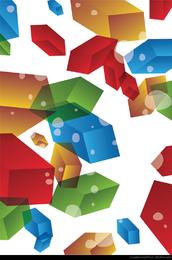 3D Ilustración abstracta del fondo del vector