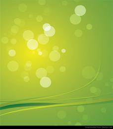 Gráfico de vetor de fundo abstrato luz verde Bokeh