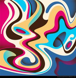 Abstracto colorido flujo fondo Vector gráfico