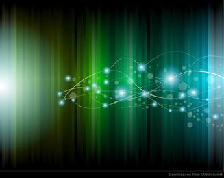 Ilustração abstrata de vetor de fundo brilhante