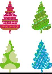 Abstract Christmas Tree Vector Graphics