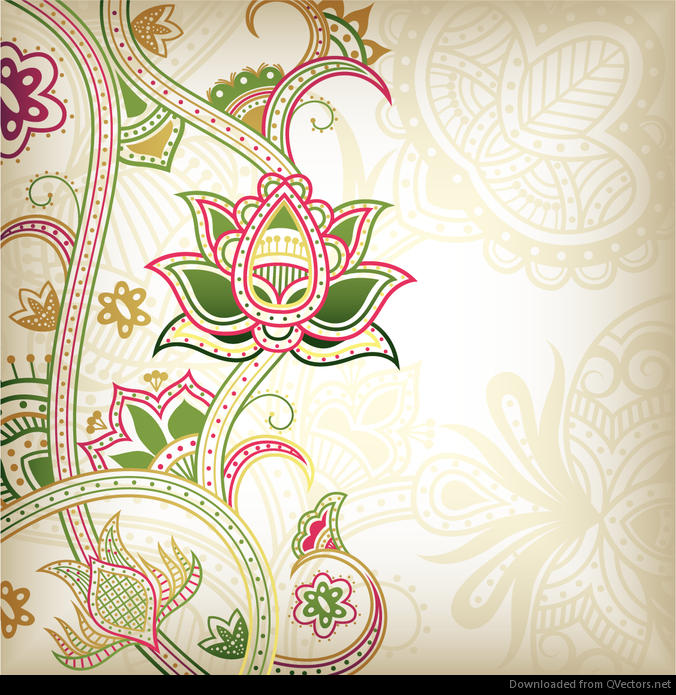 Abstract Floral Pattern Background 04 Vector Vector Download