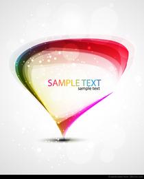 Arte del vector abstracto arco iris colorido