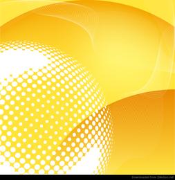 Abstrakter gelber vektorhintergrund