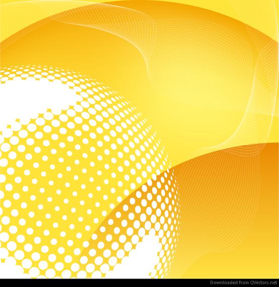 Fundo abstrato amarelo vector