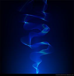 Abstract Smoke Blue Vector Background