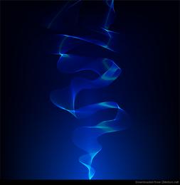 Fumo abstrato azul de fundo Vector