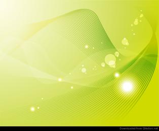 Abstrakte Hintergrund-Vektor-Grafik der grünen Welle
