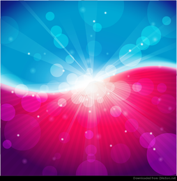 Abstract Light Blue Pink Bokeh Background Vector