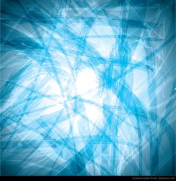 Fondo de vector abstracto lío azul