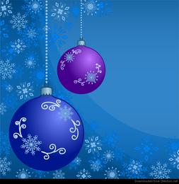 Abstrakte Weihnachtskugeln mit Verzierung von Schneeflocken