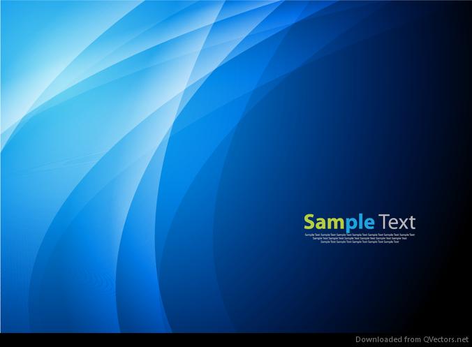 Azul abstracto de la onda fondo gráfico vectorial