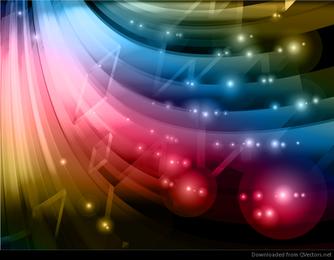 Gráfico de fundo abstrato colorido Vector